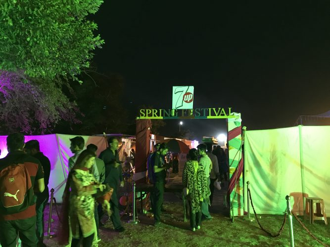 Entrance for 7up Spring Festival by Lums